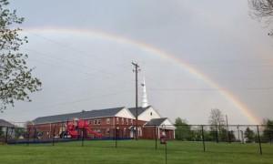 FBCH church + rainbow
